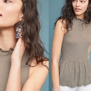 T.La Striped Mock Neck Tank